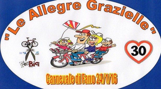 """""""Le allegre Grazielle"""": bici mascherata per il Carnevale"""