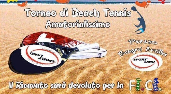 Un passo per la ricerca: torneo di beach tennis contro la fibrosi cistica