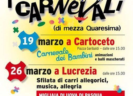 Cartoceto e Lucrezia: tornano i Carnevali di Mezza Quaresima