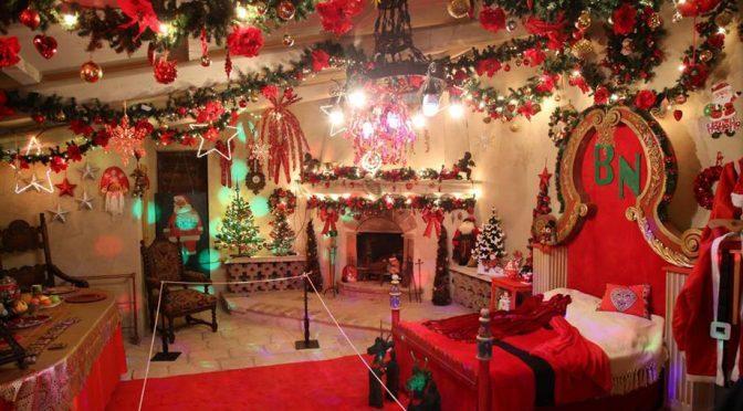 Una visita nella casa di Babbo Natale a Villa Natalina