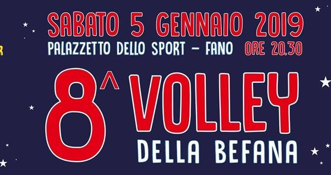 Sport, spettacolo e solidarietà: torna il Volley della Befana